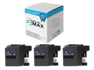SuppliesMAX Compatible Replacement for Brother DCP-J1100//MFC-J805//J815//J995//J1300DW Black Ultra High Yield Inkjet LC-3035XXLBK/_3PK 3//PK-6000 Page Yield