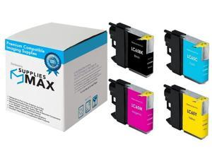 SuppliesMAX Compatible Replacement for Brother MFC-5890//5895//6490//6890C Inkjet Combo Pack BK//C//M//Y LC-1100VALB