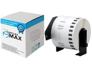 SuppliesMAX Compatible Replacement for Brother White Continuous Paper Label Tape (2.4in X 100Ft.) (DK-2205)