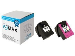 SuppliesMAX Replacement for HP Envy 5540/5545/5640/5660/5665/7640/7645/8000/8005 High Yield Inkjet Combo Pack (Black/Color) (NO. 62XL) (N9H64FN)