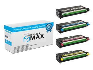 SuppliesMAX Compatible Replacement for Dell 3110CN/3115CN Toner Cartridge Combo Pack (BK/C/M/Y) (8000 Page Yield) ...