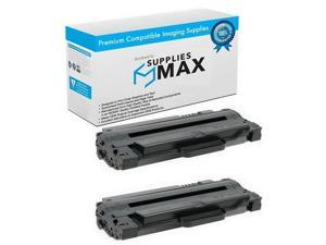 SuppliesMAX Compatible Replacement for Samsung ML-1910/1915/2525/2540/2580/SCX-4600/4623/SF-650 Toner Cartridge (2/PK-2500 Page Yield) (SU758A_2PK)