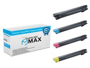 SuppliesMAX Compatible Replacement for Xerox Phaser 7500 Toner Cartridge Combo Pack (BK/C/M/Y) (106R0143MP)