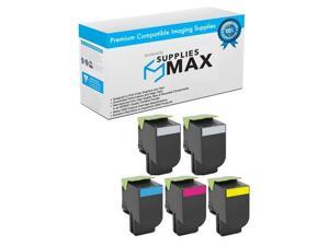 80C2HMP BK//C//M//Y SuppliesMAX Compatible Replacement for Lexmark CX-410//510 High Yield Toner Cartridge Combo Pack NO. 801H