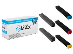 2-BK//1-C//M//Y SuppliesMAX Compatible Replacement for Sharp MX-2610//3640N Toner Cartridge Combo Pack MX-36GT2B1CMY