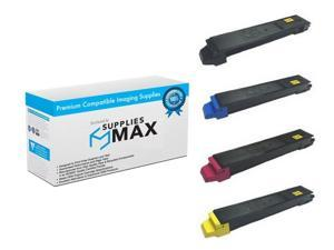 SuppliesMAX Compatible Replacement for Copystar CS-3552//3553//4052//4053ci Toner Cartridge Combo Pack 1T02RMCBCMY BK//C//M//Y TK-8529