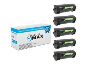 SuppliesMAX Compatible Replacement for Lexmark MS-310/MS-312/MS-410/MS-415/MS-510/MS-610 Series Compliant Toner Cartridge (5/PK-5000 Page Yield) (NO. 500HA) (50F1H0E_5PK)