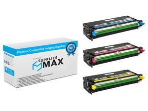 SuppliesMAX Compatible Replacement for Dell 3110CN/3115CN Toner Cartridge Combo Pack (8000 Page Yield) (C/M/Y) (3CT3110)