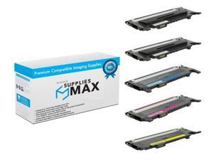 BK//C//M//Y SuppliesMAX Compatible Replacement for Dell E525DW//E525W Toner Cartridge Combo Pack 469-5224