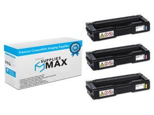 SuppliesMAX Compatible Replacement for Ricoh SP-C250/261 Toner Cartridge Combo Pack (C/M/Y) (TYPE C250A) ...
