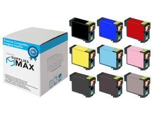 SuppliesMAX Compatible Replacement for Stylus Photo R3000 Inkjet Combo Pack (PBK/C/M/Y/LC/LM/LBK/MBK/LLBK) (NO. 157) (C13T157120-4BCS)