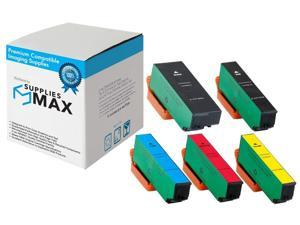 SuppliesMAX Compatible Replacement for NO. 273XL High Yield Inkjet Combo Pack (PBK/BK/C/M/Y) (T273-BCS)