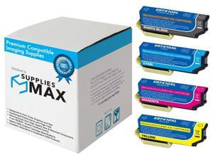 SuppliesMAX Compatible Replacement for NO. 410XL Inkjet Combo Pack (PBK/C/M/Y) (T410XLPBKCMY-US)