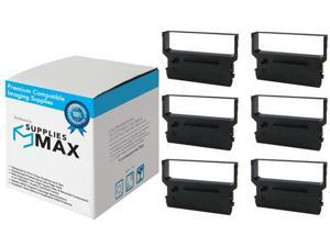 SuppliesMAX Compatible Replacement for Nukote BM337 Black P.O.S. Printer Ribbons (6/PK) - Equivalent to Citizen IR-61B