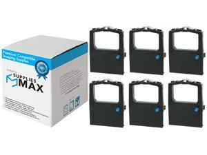 SuppliesMAX Compatible Replacement for Okidata ML-182/192/320/380/390 Black Printer Ribbons (6/PK) (52104001)