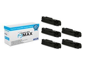 SuppliesMAX Compatible MICR Replacement for Canon MF-4010/4130/4150/4370/4380/6570 Toner Cartridge (5/PK-2000 Page) (FX-9_5PK)