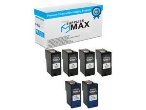SuppliesMAX Compatible Replacement for Dell V515W Black High Yield Inkjet T107N/_5PK 5//PK Series 23