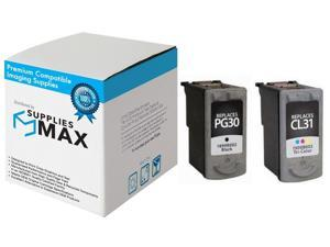 PG-30//CL-31 Black//Color PG-37PVP SuppliesMAX Compatible Replacement for Canon PIXMA iP-1800//1900//2600//MP-140//220//470//MX-300//318 Inkjet Combo Pack