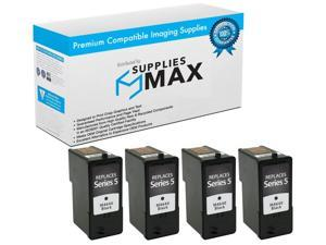 SuppliesMAX Replacement for Dell A922/924/942/944/946/962/964 Black Inkjet (4/PK) (Series 5) (310-6970_4PK)