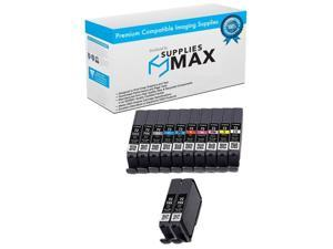 SuppliesMAX Compatible Replacement for Canon PIXMA PRO 10 Series Inkjet Combo Pack 6403B002/_2PK/_6402B007MP 3-PBK//1-MBK//C//M//Y//PC//PM//GY//R//CO
