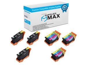 SuppliesMAX Compatible Replacement for Dell V515W Inkjet Combo Pack 5-Black//5-Color 330-5255/_5PK//330-5256/_5PKMP Series 23
