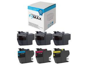 3-BK//1-C//M//Y LC-3033-3BK1CMY SuppliesMAX Compatible Replacement for Brother DCP-J1100//MFC-J805//J815//J995//J1300DW Super High Yield Inkjet Combo Pack