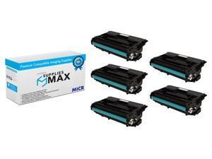 CF287X/_5PK 5//PK-18000 Page Yield NO. 87X SuppliesMAX Compatible Replacement for HP Laserjet Enterprise M501//M501N//M506DN//M506N//M506X//M527DN//M527CM//M527Z High Yield Toner Cartridge