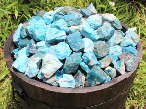 500 Carat Lot Natural Rough Blue Apte Raw Crystal Healing Stones 100 Grams