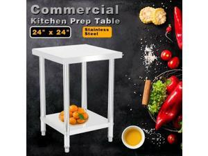 """Stainless Steel 24"""" x 24"""" Commercial Kitchen Work Food Prep Table"""