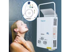Portable 6L Hot Water Heater Tankless Instant Propane LPG Gas Boiler Outdoor