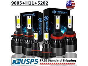 9005 H11 5202 LED Headlight Kits for Chevy Silverado 1500 2500 3500 HD 2007-2019