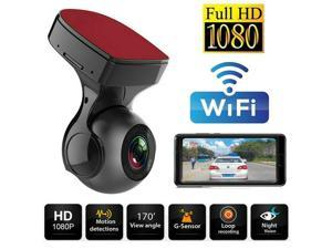 170° WiFi Dash Cam Recorder Car Camera HD 1080P Car DVR Vehicle Video G-Sensor
