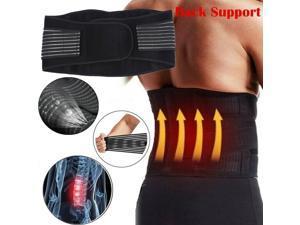 Back Support Brace Belt Lumbar Lower Back Waist Pain Relief Strap Spine 3 Sizes