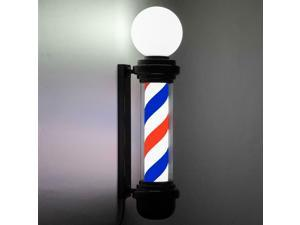 Classic Barber Pole Rotng Light Barber Shop Stripes Wall Lamp Hair Salon Sign