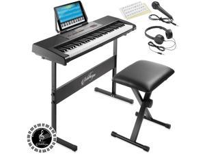61-Key Digital Electronic Keyboard Piano, Beginner Kit with Stand and Stool