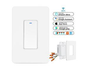 Smart WIFI Light Switch For Alexa Google Home IFTTT With Remote ControlSchedule