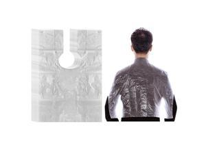 100pcs PE Disposable Hair Cutting Cape Gown Unisex Protect Barber Capes