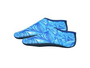 Soft Water Shoes Stretchy Aqua Socks Yoga Swim Shoe Dive Sock Camo Blue L