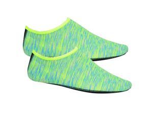 Soft Water Shoes Stretchy Aqua Socks Yoga Swim Shoe Dive Sock Green S