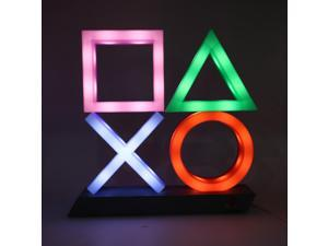Playstation Sign Voice Control Game Icon Light Dimmable Lamp Decor Ornament