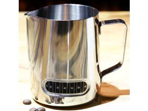 600ml Stainless Steel Milk Frothing Pitcher Jug with Integrated Thermometer