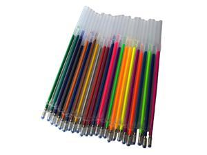 24 Colors 0.5mm Color Glitter Ink Gel Pen Refills Ofice Stationery Supplies