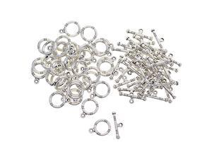50 Sets Tibetan Silver OT Toggle Clasps Jewelry making clasp DIY Findings