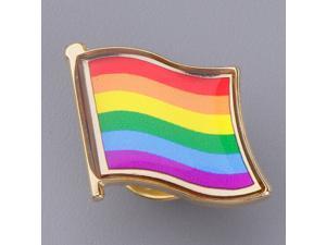 Rainbow Flag Pin Badge Retro Jacket Lapel Gay Pride LGBT