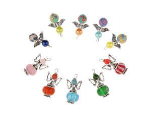 10 Pieces Mixed Angel Charms Pearl Acrylic Bead Pendant DIY Jewelry Findings