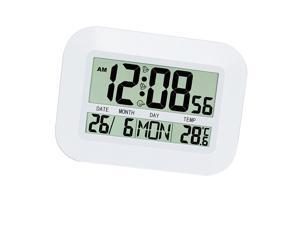 Large LCD Digital Clock Temperature Meter Clock Calender Snooze Alarm Clock