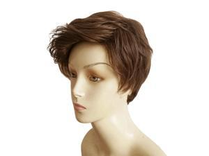 Men Boys Handsome Korean Style Short Brown Hair Full Wig Cosplay Party Decor