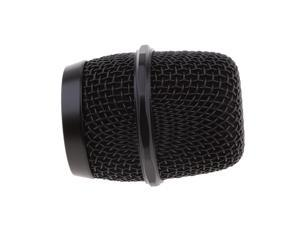 Replacement Steel Mesh Microphone Grill Head Black