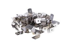 100 Pieces Meal Offset Mounting Canvas Z Clips for Photo Picture Framing