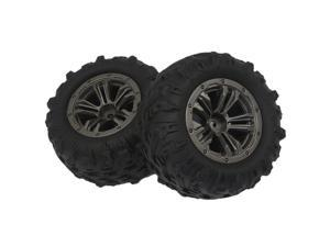 2Pcs Rubber RC Car Wheel Tire Parts Accessory For Xinlehong Q901 Q902 Q903